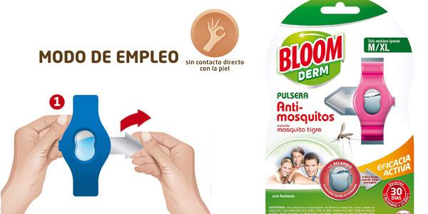Comprar Pack x6 pulseras antimosquitos Bloom Repelente (incluido mosquito tigre) chollo en Amazon