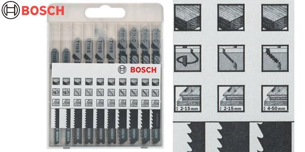 Set x10 hojas de sierra de calar Bosch 2607010629 baratas en Amazon