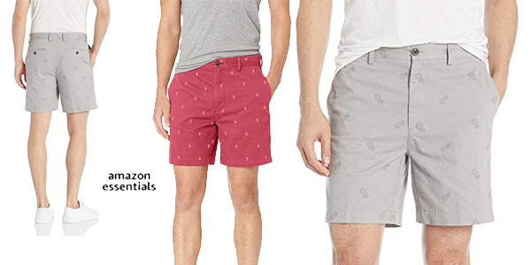 Pantalones cortos Amazon Essentials Classic-fit para hombre baratos en Amazon