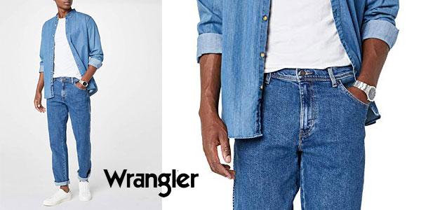 Vaqueros Wrangler Texas Classic Regular Fit Straight Leg para hombre chollo en Amazon
