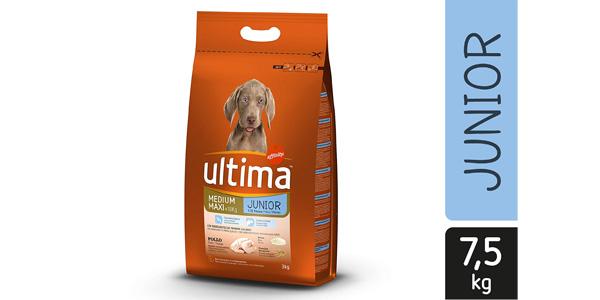 Pienso seco Ultima Medium Maxi para Perros Junior 7,5 kg barato en Amazon