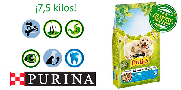 Pienso para perros Purina Friskies Vitafit Junior de pollo (7,5 kg) barato