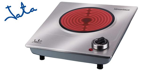 Placa de cocina eléctrica vitrocerámica JATA V531 de 1200 W barata en Amazon