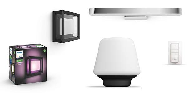 productos de iluminación inteligente Philips Hue promoción Amazon