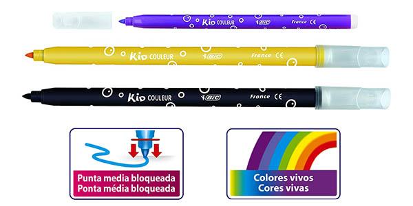 rotuladores de punta media BIC Kids Colours oferta