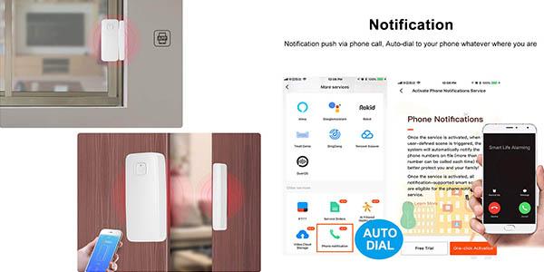 sensor Owsoo para puertas y ventanas compatible con Google Home y Alexa chollo