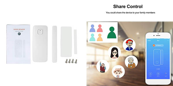 sensor para puerta Owsoo con notificación aplicación móvil oferta