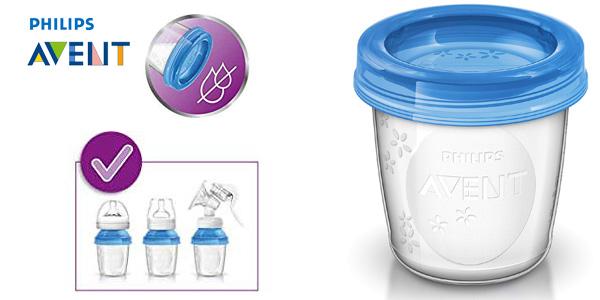 Pack x10 vasos Philips Avent (SCF618/10) de 180ml para alimentación infantil chollo en Amazon