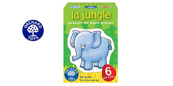 Set de 6 Puzzles Orchard Toys La jungla de animales de la selva de 2 piezas barato en Amazon