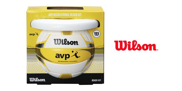 Set de pelota de vóley-playa Wilson AVP y frisbee barato en Amazon