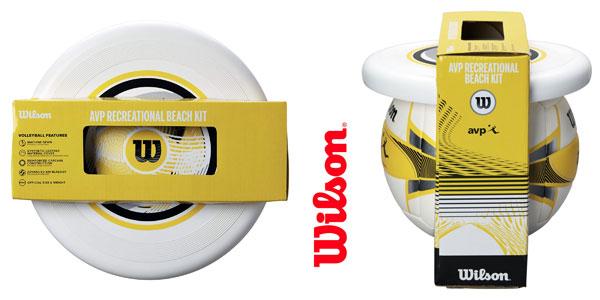Set de pelota de vóley-playa Wilson AVP y frisbee chollo en Amazon