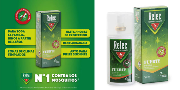 Spray Relec Sensitive Fuerte Familiar Eficaz Antimosquitos de 75 ml barato en Amazon