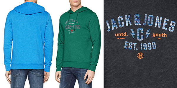 sudadera Jack Jones Jcojames Sweat Hood Camp en oferta