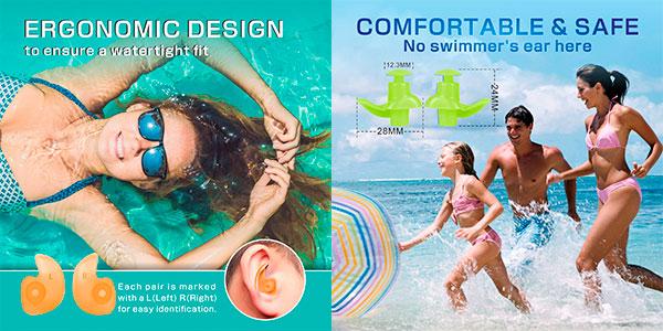 Tapones de natación Hearprotek para los oídos baratos