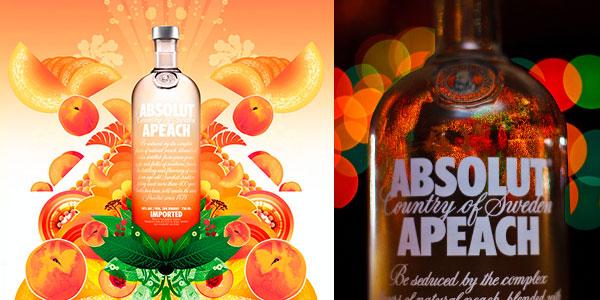 Vodka Absolut Apeach de 1.000 ml barato