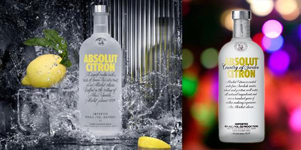 Vodka Absolut Citron de 700 ml barato