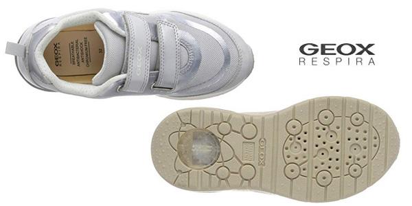 Zapatillas Geox J Spaceclub Girl C con luces para niña chollo en Amazon