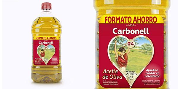 Garrafa de 2 litros de aceite Carbonell 0,4 litros barato en Amazon
