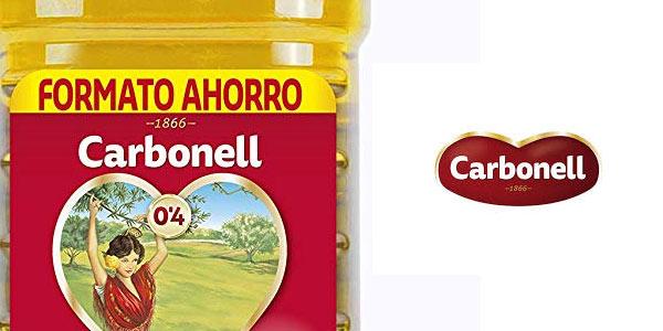 Garrafa de 2 litros de aceite Carbonell 0,4 litros en oferta en Amazon
