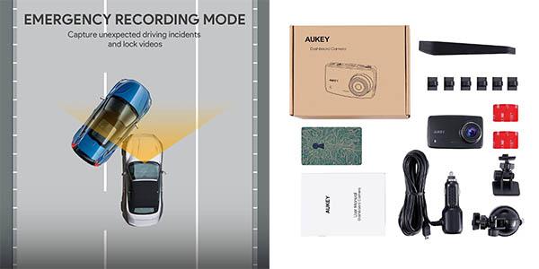 cámara con visión nocturna y sensor de movimiento Aukey chollo