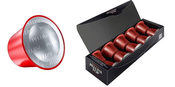 Capsulas de café Pellini compatibles con Nespresso en oferta en Amazon