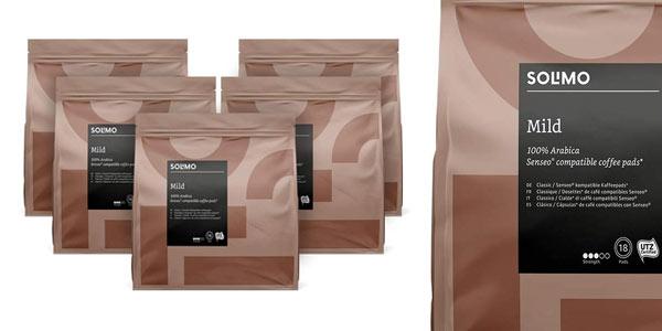 Pack 90 cápsulas de café Solimo MIld compatibles con Senseo baratas
