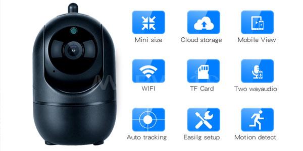 Características de la cámara WiFi