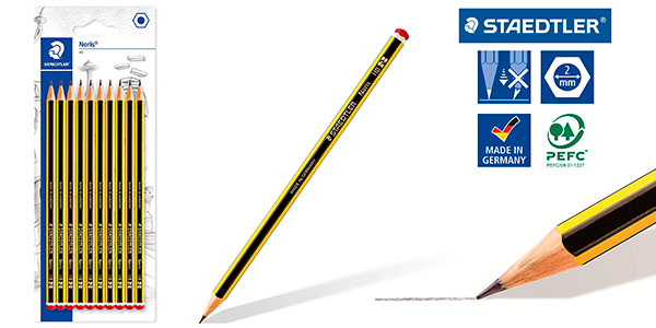 Chollo Caja de 10 lápices Staedtler Noris 120-2BK10D