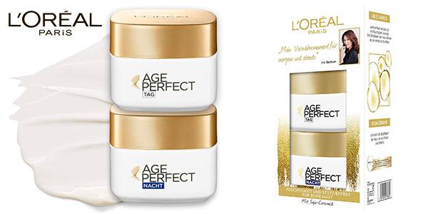 Chollo Juego de 2 cremas antiarrugas Age Perfect Día y Noche de L'Oréal