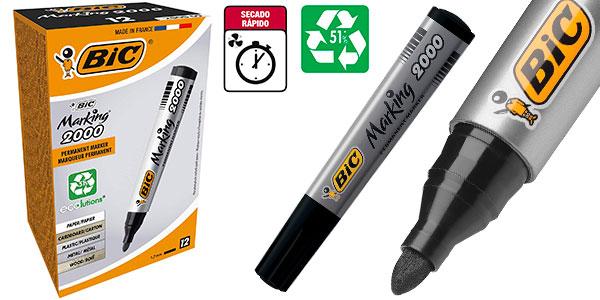 Chollo Pack de marcadores permanentes BIC Marking 2000 ECOlutions