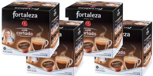 Chollo Pack Cápsulas de café cortado Fortaleza compatibles con Dolce Gusto