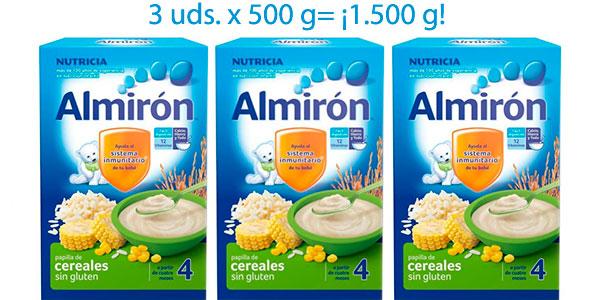 Chollo Pack x3 Papilla Almirón de cereales sin gluten a partir de 4 meses de 500 g