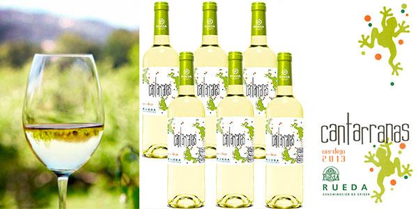 Chollo Pack de vino Cantarranas Verdejo 2017 de 700 ml con DO Rueda