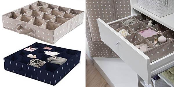 Compactor organizador para cajones y armarios barato