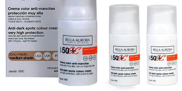 crema facial Bella Aurora SPF50 Anti-manchas chollo