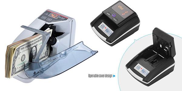 Detector Aibecy de billetes falsos con medidor de valor barato
