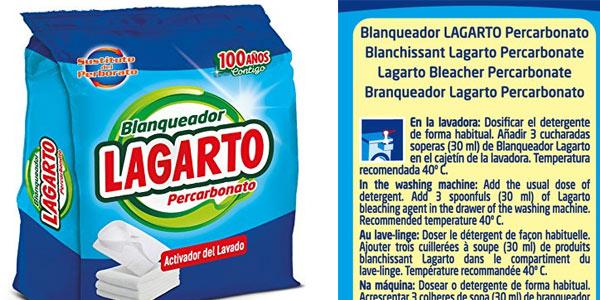 Detergente blanqueador en polvo Lagarto con percarborato barato en Amazon