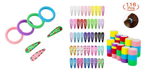 HBselect pack de gomas y clips para el pelo barato