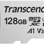 Tarjeta microSDXC Transcend USD300S de 128 GB Clase 10, U1, A1, V30