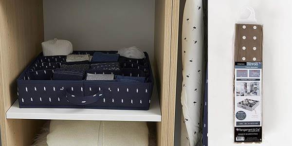 organizador de tela para armarios y cajones Compactor chollo