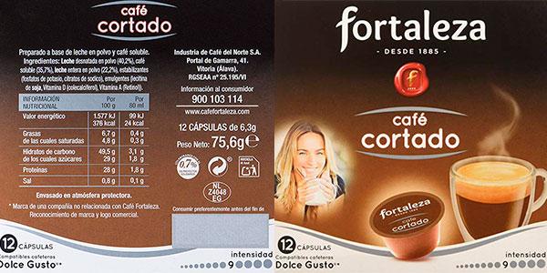 Pack Cápsulas de café cortado Fortaleza compatibles con Dolce Gusto barato
