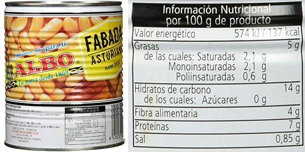 Pack de fabada asturiana Albo barato