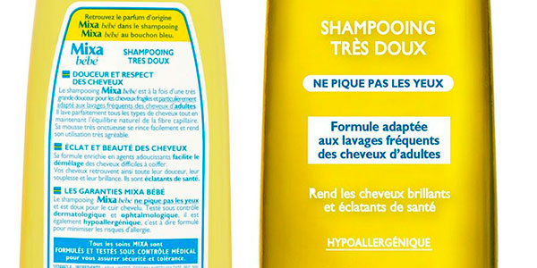 Pack de champú micelar Mixa Baby hipoalergénico para niños barato