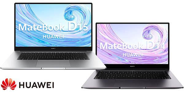 "Portátiles ultrabook Huawei MateBook D de 14"" o 15,6"" Full HD"