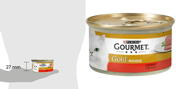Purina Gourmet Gold Mousse buey chollo