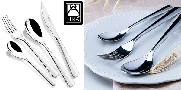 Chollo Set de 24 cubiertos BRA Torino de acero inoxidable 18/10 pulido