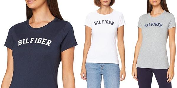 Camiseta Tommy Hilfiger SS Tee Print para mujer barata