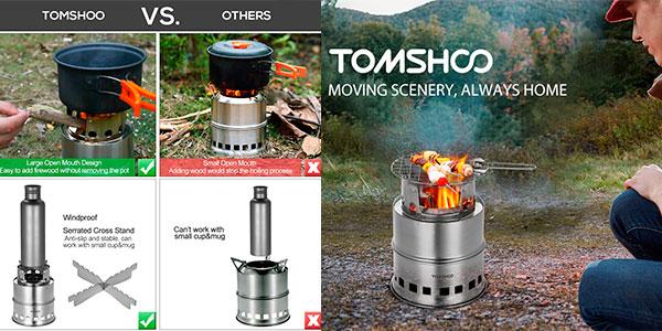 Estufa de leña Tomshoo barata