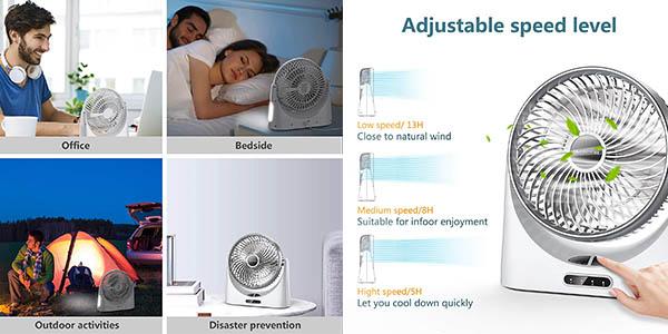 ventilador Elechomes para escritorio con USB y cupón descuento Amazon
