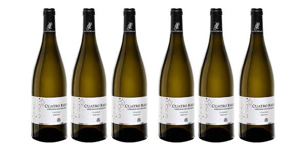 Pack x 6 botellas vino blanco Verdejo D.O Rueda Cuatro Rayas Viñedos Centenarios Agrícola Castellana Chollo Amazon